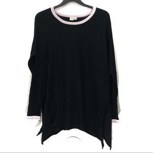 Cloth by Design Side Slit Ringer Tunic Sweater